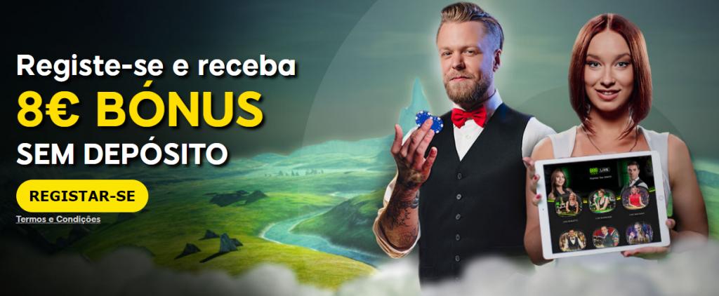 888 Casino Portugal - Recebe 8€ Grátis só pelo Registo. Vê como fazer
